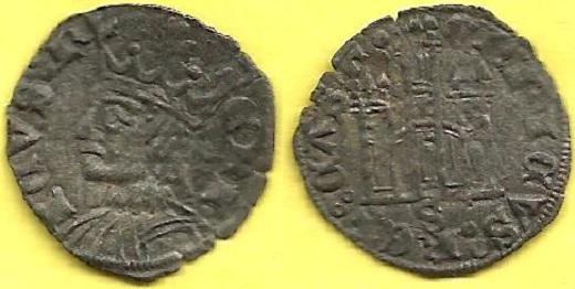 Dinero coronado o cornado de Enrique II. Burgos M%20-%203232